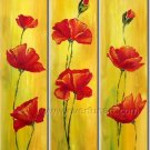 Poppy Garden Floral hand painted oil painting FL3-163