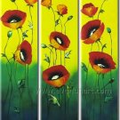 Red Modern floral hand painted oil painting bestbid_shop SC462 FL3-165