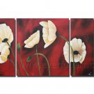 white flower large oil painting canvas modern contemporary art floral FL3-194