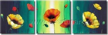 Spring Flowers Modern Oil Painting On Canvas Framed Nice Gift FL3-204