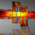 Handpainted Modern Wall Decor Art 4-piece Abstract Oil Painting On Canvas XD4-212