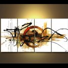 Handmade Modern Professional Wall Decor Art 4-piece Huge Abstract Oil Painting On Canvas XD4-219