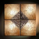 Professional Handpainted 4-piece Decorative Abstract Oil Painting On Canvas XD4-228