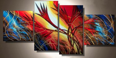 Popular 100% Hand -Painted Large Modern Oil Painting On Canvas for Wall Decoration XD4-230