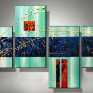Guaranteed Wall Decor Art Hand-painted Group Modern Abstract Oil Painting on Canvas XD4-202