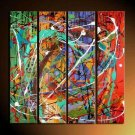 Handmade Modern Abstract Oil Painting on Canvas for Wall Decor XD4-223