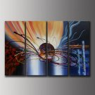 Handmade Modern Abstract Oil Painting on Canvas for Wall Decor by Professional Artist XD4-225