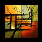 High Quality Hand-Painted Abstract Landscape&tree Oil Painting On Canvas for Wall Decoration LA4-053