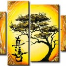 Hot Selling Modern Abstract Landscape&tree Oil Painting On Canvas for Wall Decoration LA4-059