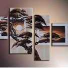 100% Hand-Painted Large Modern Landscape&tree Oil Painting On Canvas for Wall Decoration LA4-034