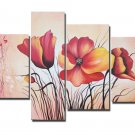 Handpainted Modern Huge Flower Oil Painting on Canvas for Wall Decor by Professionals FL4-144