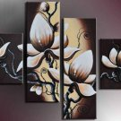 100% Handpainted Modern Huge Flower Oil Painting on Canvas for Wall Decor by Professionals FL4-114