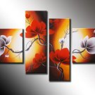 Modern Handpainted Decorative Huge Flower Oil Painting on Canvas by Professionals FL4-113