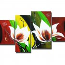 Guaranteed Handpainte Decorative Huge Flower Oil Painting on Canvas by Professionals FL4-127