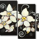 Contemporary Handpainted Group Plum Blossom Oil Painting on Canvas for Wall Decor FL4-125