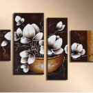Professional Modern Handpainted Lotus Oil Painting on Canvas for Wall Decor Art FL4-115