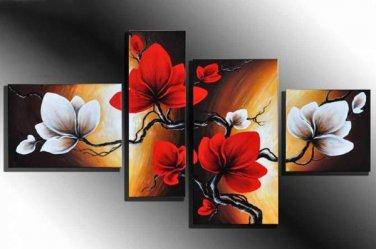 Professional Handpainted Modern Flower Oil Painting on Canvas for Wall Decor FL4-138