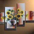 Hot Selling Hand-painted Modern 4-piece Professional Cherry Blossom Canvas Art Oil Painting  FL4-139
