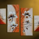 Museum Quality! Hand-painted 4-piece Modern Decorative Flower Canvas Art Oil Painting FL4-130
