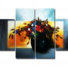 Professional Handpainted 4-piece Decorative Flower Oil Painting On Canvas FL4-107