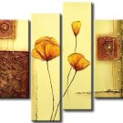 Hand-painted Modern 4-piece Professional Flower Canvas Art Oil Painting for Wall Decoration FL4-150