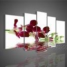 2013 New Design Group Painting Modern Flower Decorative Art Canvas FL5-050