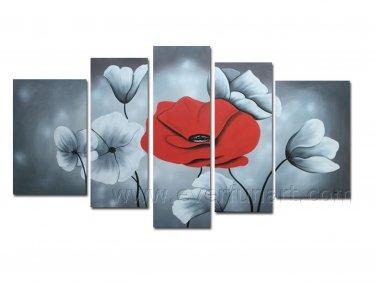 Modern Flower Art Painting Modern Group Flower Decorative Art Canvas FL5-056