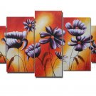 Modern Handpainted Decorative Huge Flower Oil Painting on Canvas by Professionals FL5-061