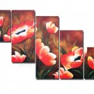100% Handpainted Modern Huge Flower Oil Painting on Canvas for Wall Decor by Professionals FL5-072