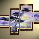 Handpainted African Modern landscape Pine Tree Oil Painting on canvas (+Framed) AR-011