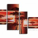 Handpainted African Modern landscape Pine Tree Oil Painting on canvas (+Framed) AR-014