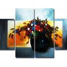 Framed Flower Oil Painting Vaseon Canvas FL4-107
