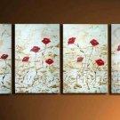 Framed Red Flower Oil Painting for Home Decor FL4-112