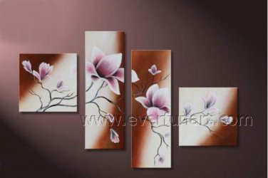 Ready to Hang Decorative Flower Oil Painting on Canvas FL4-118