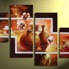 100% Hand Painted Flower Oil Painting on Canvas (+Framed) FL4-136