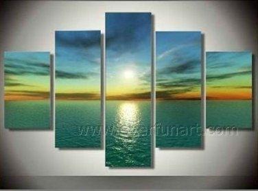 Handmade Beautiful Seascape Oil Painting (+Framed) SE-179