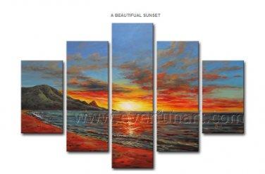 Modern Canvas Art Seascape Oil Painting for Decor (+Framed) SE-184