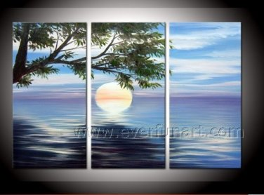 Modern Canvas Art Seascape Oil Painting for Home Decor (+ Framed) SE-200