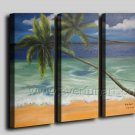 Home Decor Seascape Oil Painting Coco Tree (+Framed) SE-203