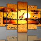 Home Decor African Art  Landscape Oil Painting (+ Framed) AR-092