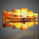 100% Hand Painted Landscape Africn Art (+Framed) AR-094