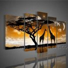 Wall Decoration African Art Oil Painting on Canvas (+ Framed) AR-098