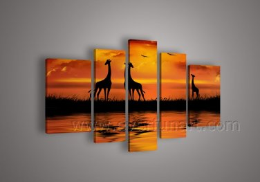 Decorative Wall Art African Landscape Oil Painting (+ Framed) AR-100