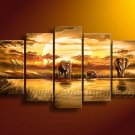 100% Hand Painted African Art Oil Painting (+Frame) AR-103