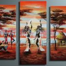 Decorative African Art Oil Painting on Canvas (+ Frame) AR-112