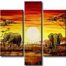 100% Hand Painted African Art Oil Painting (+ Frame) AR-113