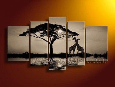 African Art Oil Painting on Canvas for Decor (+ Frame) AR-116