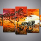 Hand Painted African Art Oil Painting (+ Frame) AR-117