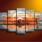African Art Oil Painting on Canvas for Home Decor (+ Frame) AR-121