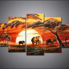 Wall Decoration African Art Canvas Painting (+ Frame) AR-124